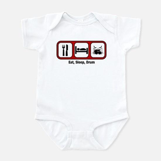 Eat, Sleep, Drum Infant Bodysuit