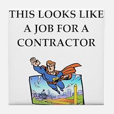 contractor Tile Coaster