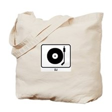 DJ (white) Tote Bag