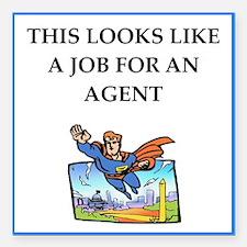 "agent Square Car Magnet 3"" x 3"""