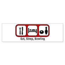 Eat, Sleep, Bowling Bumper Bumper Sticker