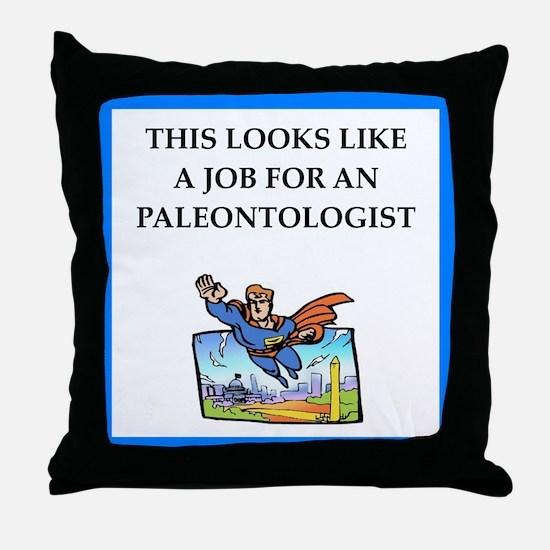 paleontologist Throw Pillow