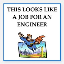 "engineeer Square Car Magnet 3"" x 3"""