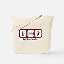 Eat, Sleep, Bagpipes Tote Bag