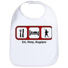 Eat, Sleep, Bagpipes Bib