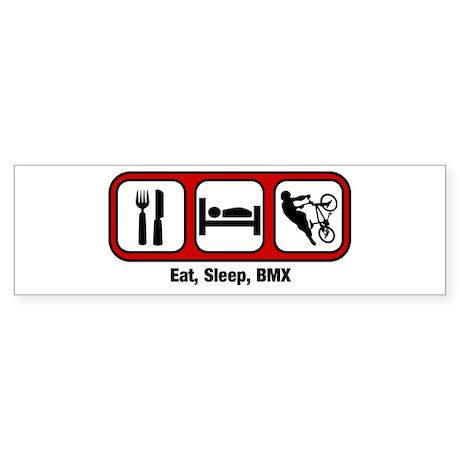 Eat, Sleep, BMX Bumper Sticker