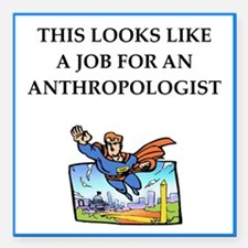 "anthrpology Square Car Magnet 3"" x 3"""