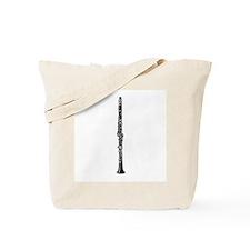 Woodcut Clarinet Tote Bag