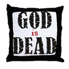 God Is Dead Throw Pillow