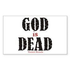 God Is Dead Rectangle Decal