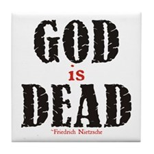 God Is Dead Tile Coaster