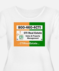 CTI Logo w Website Plus Size T-Shirt