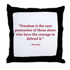 Defend Freedom Throw Pillow