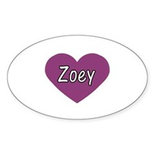 Zoey Oval Decal