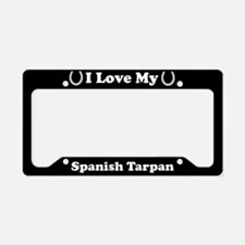 I Love My Spanish Tarpan Horse License Plate Holde