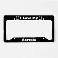 I Love My Sorraia Horse License Plate Holder