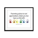 Autism Parenting Framed Panel Print