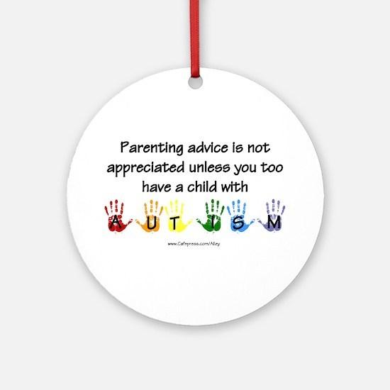 Autism Parenting Ornament (Round)