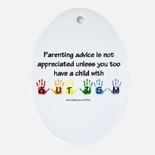 Autism Parenting Oval Ornament