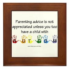 Autism Parenting Framed Tile