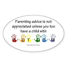 Autism Parenting Oval Bumper Stickers