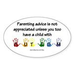 Autism Parenting Oval Sticker