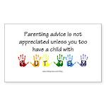 Autism Parenting Rectangle Sticker