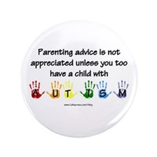 "Autism Parenting 3.5"" Button"