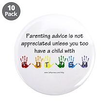"""Autism Parenting 3.5"""" Button (10 pack)"""