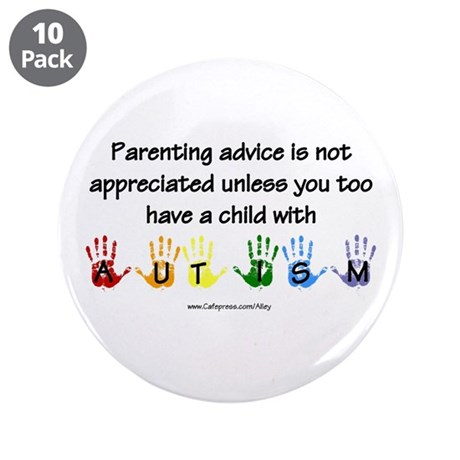 "Autism Parenting 3.5"" Button (10 pack)"