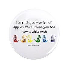 """Autism Parenting 3.5"""" Button (100 pack)"""