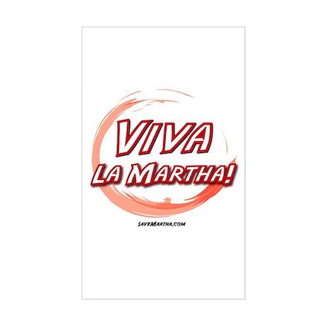 Viva La Martha Rectangle Sticker