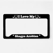 I Love My Shagya Arabian Horse License Plate Holde