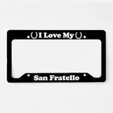 I Love My San Fratello Horse License Plate Holder