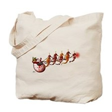 Santa Claus and Seahorse Sleigh Tote Bag