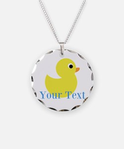 Personalizable Yellow Duck Blue Necklace