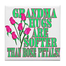 Grandma Hugs Tile Coaster