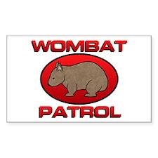 Wombat Patrol III Rectangle Decal