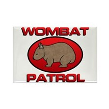 Wombat Patrol III Rectangle Magnet