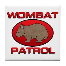 Wombat Patrol III Tile Coaster