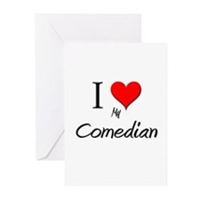 I Love My Comedian Greeting Cards (Pk of 10)