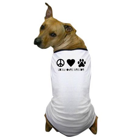 Peace Love & Paw Dog T-Shirt