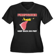Firefighter Water Bomber Women's Plus Size V-Neck