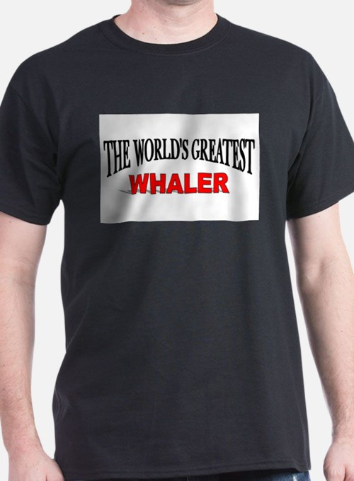 """The World's Greatest Whaler"" Ash Grey T-Shirt"