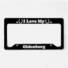 I Love My Oldenburg Horse License Plate Holder