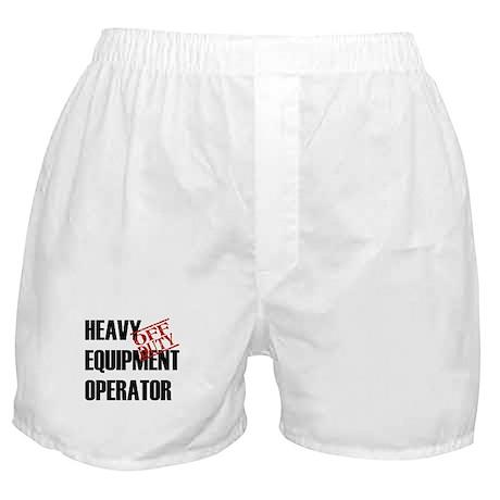 Off Duty Heavy Equipment Oper Boxer Shorts