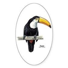 Toucan Bird Oval Decal