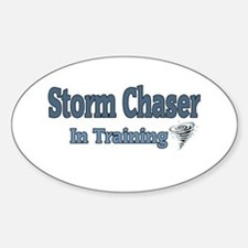 Storm Chaser In Training Oval Decal