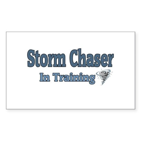 Storm Chaser In Training Rectangle Sticker