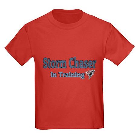 Storm Chaser In Training Kids Dark T-Shirt